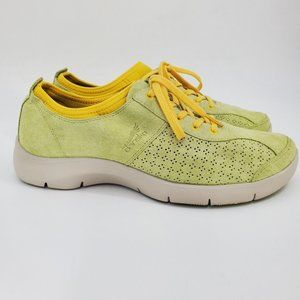Dansko Elise Yellow Green Suede Sneakers Sz 41
